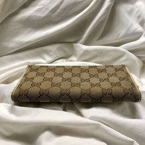 Gucci Bags - Gucci GG Canvas Trifold Tan Wallet 181595 0959